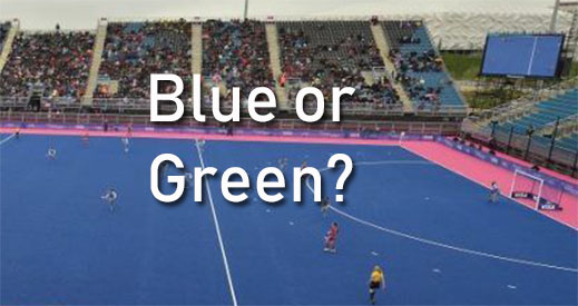 blue or green hockey field?