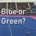 blue or green hockey field?